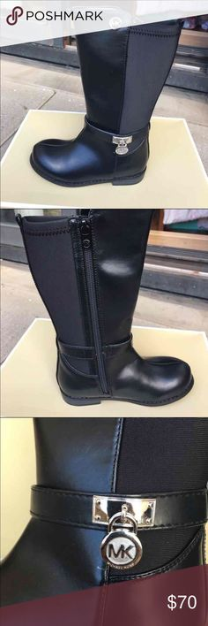 Michael kors black boots toddler girls Sz 10 Brand new authentic pair of boots for toddler girls. Side zip closure. MICHAEL Michael Kors Shoes Boots
