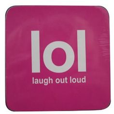 Boxer Gifts Laugh Out Loud Lol Text Coaster: Amazon.co.uk: Kitchen & Home