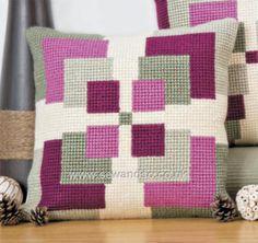 Buy Symmetry Cushion Front Chunky Cross Stitch Kit Online at www.sewandso.co.uk
