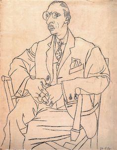 Pablo Picasso - portrait of igor stravinsky, 1920 by P-E Fronning, via Flickr