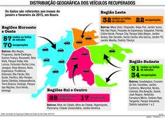 JuRehder - Infográfico sobre roubos de veículos, para o JC Bauru/SP