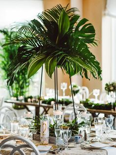 Tall greenery centerpiece ideas
