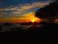 Watching the romanic #Sunset from my hotel in #Labuanbajo, Indonesia