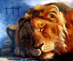 Sleeping lion  -    finished? by Hilary Weeks