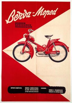 Budapest Poster Gallery : Photo Vespa Moped, Moped Motorcycle, Motorcycle Posters, Vespa Vintage, Vintage Ads, Vintage Posters, Retro Posters, Triumph Motorcycles, Vintage Motorcycles