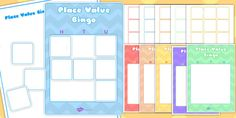 Editable Hundreds, Tens and Units Place Value Bingo Game Tens And Units, Bingo Games, Place Values, The Unit, Number, Learning, Places, Fun, Cards