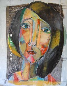 Swiss Artist Painter   Painted by Cathy Butuza   #outsiderart #artbrut #art #artist #artistic #painting #acrylic #facesart #illustration #artwork #illustrationart