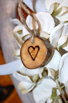 Aspen Hearts - Rustic Wedding FAVORS - Charms 50 - Gift Tag - Outdoor Shabby Chic - Rustic Barn Nature - HEARTS. $75.00, via Etsy.