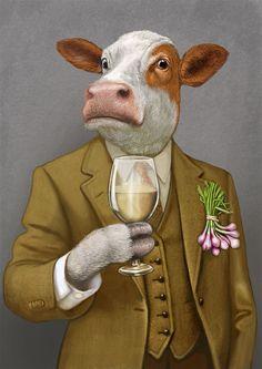 Heston - Waitrose — Bob Venables Illustration Pop Art, Arte Peculiar, Character Art, Character Design, Bunny Art, Animal Heads, Whimsical Art, Surreal Art, Animal Paintings