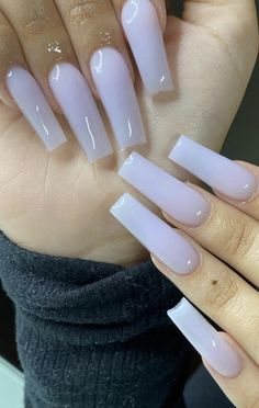 Long Square Acrylic Nails, Acrylic Nails Coffin Short, Bling Acrylic Nails, Best Acrylic Nails, Cute Acrylic Nail Designs, Coffin Nails, Gel Nails, Milky Nails, Acylic Nails