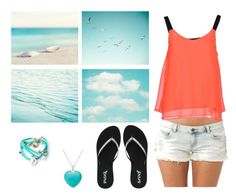 """waiting for summer"" by angmz on Polyvore featuring Ruby Rocks, Billabong, ONLY and Reef"