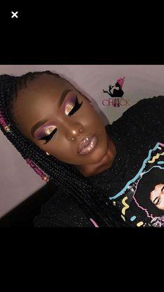 trendy birthday makeup looks dark skin Eyeshadow Looks, Eyeshadow Makeup, Eyeshadows, Skin Makeup, Gorgeous Makeup, Pretty Makeup, Amazing Makeup, Makeup Trends, Makeup Tips