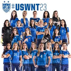 USA! USA! USA! YAAAAAASS.  Here is your 2015 United States Women's World Cup Team. #USWNT23