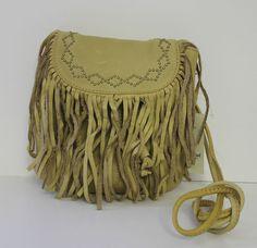 "Lucky Brand ""Loredo"" Leather Fringe Crossbody Handbag Squash NWT $108 #LuckyBrand #MessengerCrossBody"