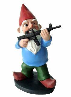 Garden Gnomes With Guns gnome garden: lumberjack gnome | naughty gnomies