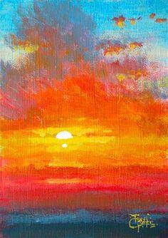 "Daily Paintworks - ""sunlit clouds"" - Original Fine Art for Sale - © Toni Goffe"