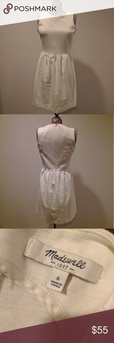 Madewell Cream / Off-White Afternoon Dress Cream colored Afternoon dress by Madewell. Soft and stretchy. Has pockets. In excellent condition. Madewell Dresses Midi