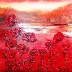 Hot sunset.   /Atelieropruiming! Painting & Drawing, Hot, Abstract, Sunset, Drawings, Artist, Flowers, Flower Paintings, Modern Art