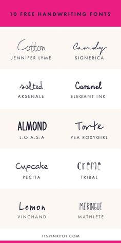 Free Handwriting Fonts For Your Creative Projects Check out these 10 gorgeous handwriting fonts. They are all FREE too so enjoy.Check out these 10 gorgeous handwriting fonts. They are all FREE too so enjoy. Calligraphy Fonts, Typography Fonts, Typography Design, Hand Lettering, Lettering Styles, Lettering Tutorial, Handwritten Logo, Cursive Fonts, Calligraphy Alphabet