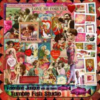 Tumble Fish Studio Valentine Junque kit