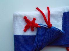 couverture bébé naissance en laine layette bleu , blanc , rouge , couffin , maternité , poussette , landau : Puériculture par bebelaine