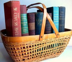 Vintage Woven Basket / The Farmhouse Book Basket by EitherOrFinds, $12.00
