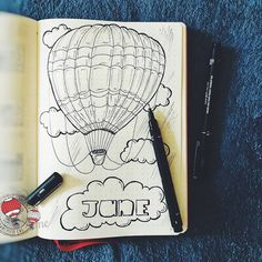 Adventure awaits 🎈✨💙 - - - #bulletjournal #bulletjournalcommunity #bulletjournallove #bujo #bujospread #bujoideas #bujoinspire #bujoinspo #bujolove #bujojunkies #minimalistbujo #planner #plannercommunity #showmeyourplanner #instajournal #journaling #notebook #leuchtturm1917 #journaling #summer #june #adventure #airballoon #2018bujosetup #2018 #воздушныйшар #лето #июнь