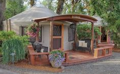 Solutions to the Top 5 Myths About Yurt Living - Pacific Yurts Yurt Living, Tiny House Living, Outdoor Living, Pacific Yurts, Yurt Interior, Yurt Home, Earth Homes, Earthship, Round House