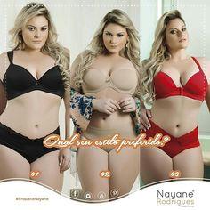 E aiii meninas, boa terça-feira!!! Todos os modelos são lindíssimos, massss qual é o seu estilo preferido?   #UseNayane #NayaneRodrigues #ModaÍntima #Enquete #Lingerie  #PlusSize #AlineZattar