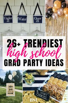 how cute are these high school graduation party ideas?! im obsessed. cant wait to use these for my grad party this summer!! Outdoor Graduation Parties, Graduation Party Planning, College Graduation Parties, Graduation Party Decor, Grad Parties, Future School, Diy Party Decorations, Graduate School, Party Ideas