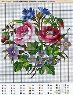 Flower cross stitch charts free 21 From 58 Flower Cross Stitch Charts Free Cross Stitch Rose, Cross Stitch Flowers, Cross Stitch Charts, Cross Stitch Designs, Cross Stitch Patterns, Cross Stitching, Cross Stitch Embroidery, Hand Embroidery, Embroidery Patterns Free