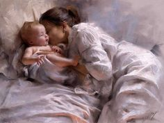wonderful painting by Vicente Romero Redondo I really love the way this artist captures the beauty of the moment. ❤️