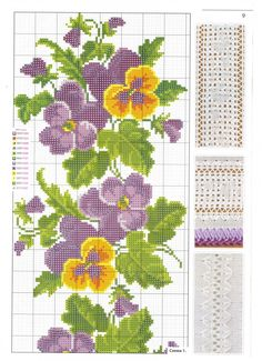 Cross Stitch Boarders, Cross Stitch Rose, Cross Stitch Flowers, Cross Stitch Designs, Cross Stitch Patterns, Butterfly Embroidery, Beaded Embroidery, Cross Stitch Embroidery, Embroidery Patterns