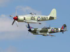 Hawker Sea Fury & Spitfire (1945)