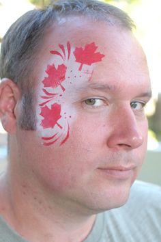 Canada day face paint by christine turpin Canada Day, Paint Ideas, Pj, Carnival, Faces, Camping, Makeup, Summer, Projects