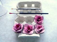 Rosas de cartón en Manualidades para decorar y detalles de decoración del hogar, fiestas y eventos