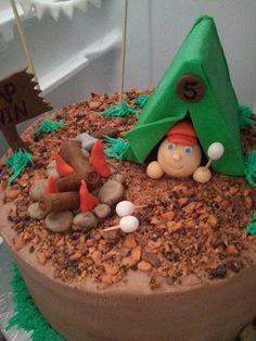 Camping Out Fondant Cake Topper Set | ShannonJames - Edibles on ArtFire