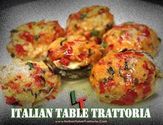 Italian Table Trattoria Stuffed Mushroom appetizer. IT Trattoria is located in Riverdale, N.J. inside the same shopping center as Blu Alehouse.
