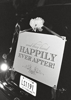 Just Married Sign Happily Ever After, by Lettered Olive - Lettered Olive on Taigan