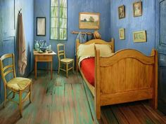 Sleep in Van Gogh's Bedroom After Viewing the Exhibition at Art Institute Chicago