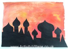 R is for Russia - Russian Cityscape Silhouette art idea