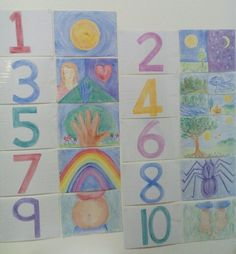 Numbers introduction in Class 1 at Gaia Waldorf school, Teacher Melanie