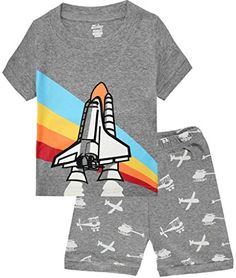 Boys Pajamas Airplane Cotton Kids Clothes Short Sets Size 5Y >>> See this awesome image @