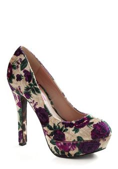 with a dark purple party dress and silver accents Got to have these! <3<3<3!