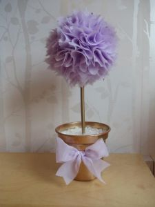 Table centre piece organza topiary trees