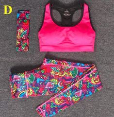 Aine 3-Pc Active Set Sports Bra+Leggings+Headband