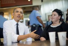 """""""My lunch with the President at @Chipotle."""" ! #FamiliesSucceed"""