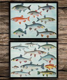 Poisson cru définie Vintage Prints | Impressions nautiques | Home decoration | Decor de bureau | Sticker imprimable | Sticker Vintage |