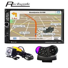 2 Din Car Audio Stereo 7 inch 1080p GPS Navigation MP5 Player Touch Screen Support Steering Wheel Remote Control Rearview Camera (32772501932)  SEE MORE  #SuperDeals
