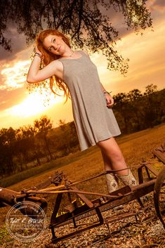 Madi Meyers - Luscombe Farms - Lone Star High School - Senior Portraits - Sunset - Country Chic - Class of 2016 - @Whitney Stiles - Dallas - Senior Pictures - Redhead - Senior Model Rep - Tyler R. Brown Photography